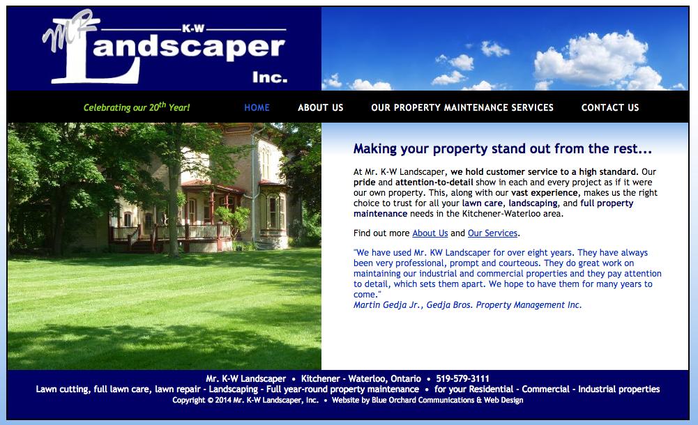 Mrkwlandscaper.com Homepage