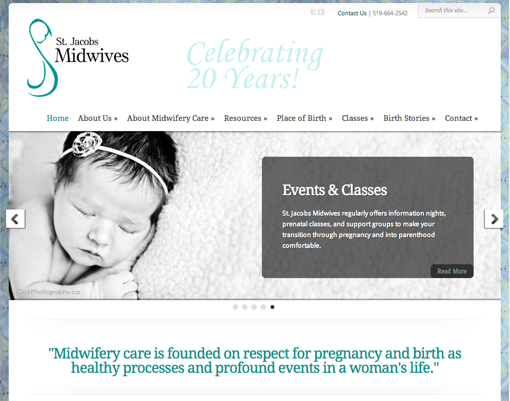 StJacobsMidwives.on.ca - Homepage - Full Screen View