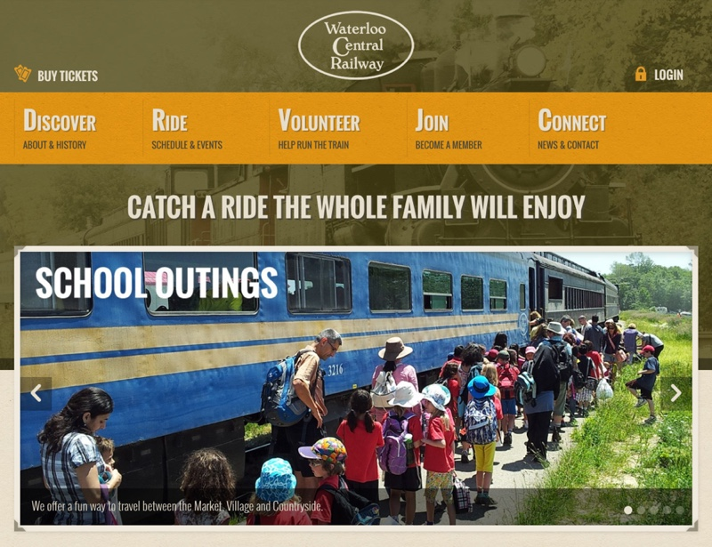 WaterlooCentralRailway.com - Homepage - Full Screen View