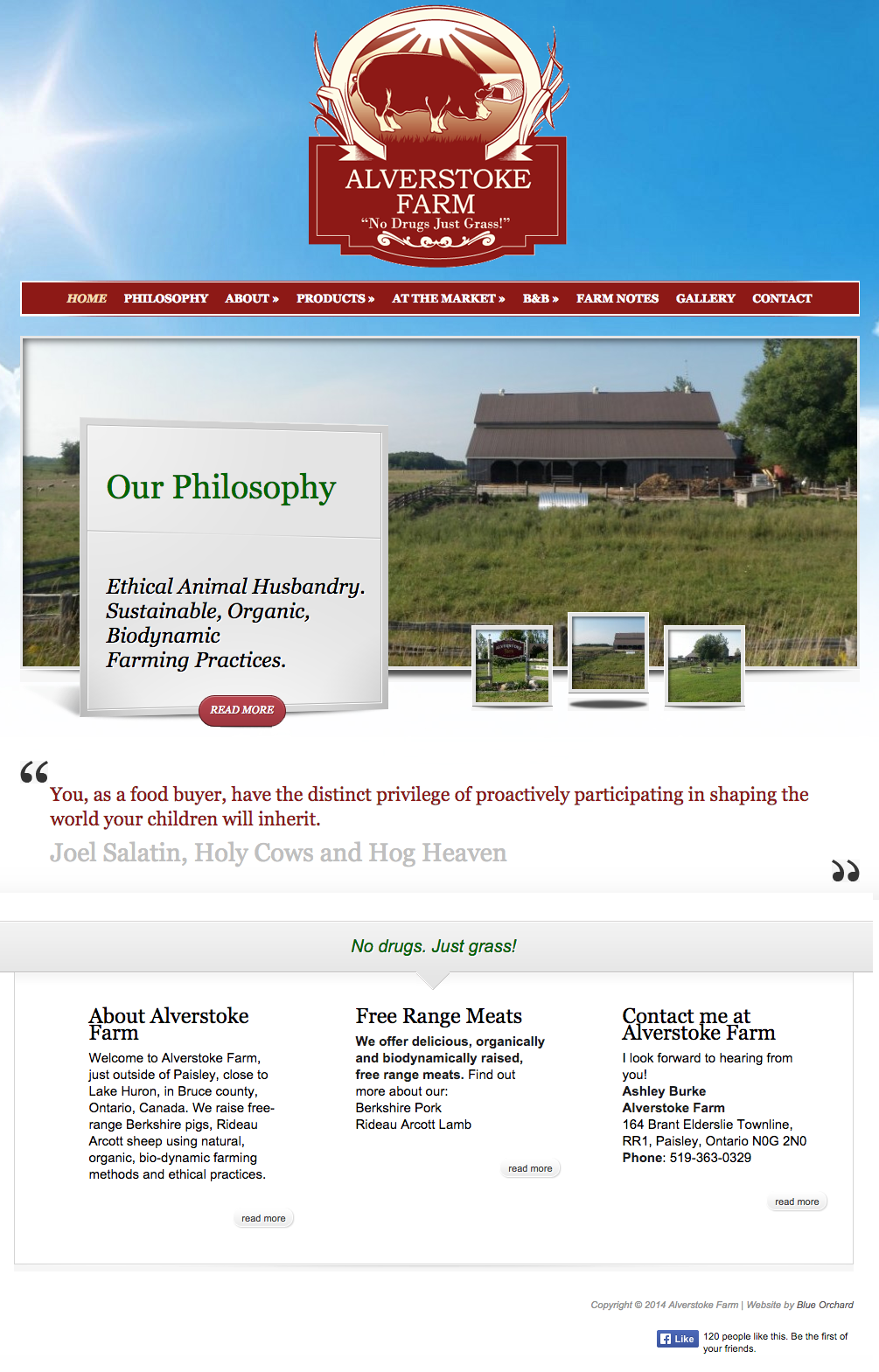 AlverstokeFarm.ca - Homepage - Full Screen View