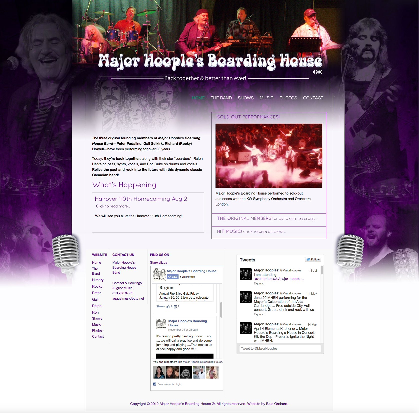 MajorHooplesBoardingHouseBand.com - Homepage - Full Screen View