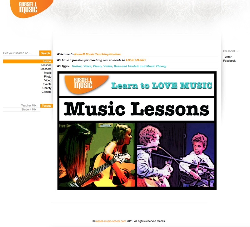 Russell-Music-School.com - Old Website