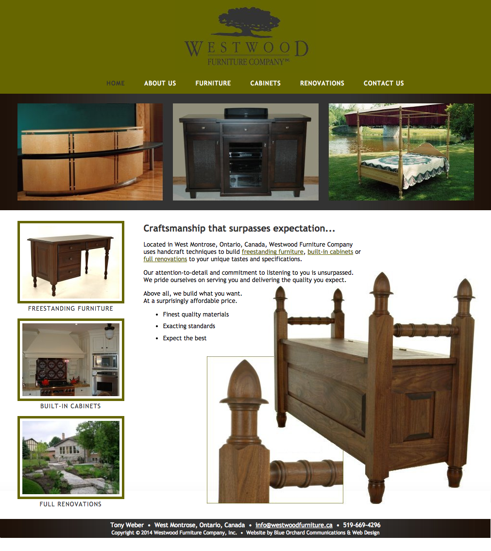 Project Westwood Furniture Company Screenshot Redesign