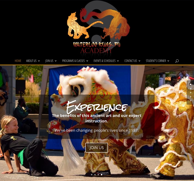 WaterlooKungFu.com - Updated Homepage - Full Screen View